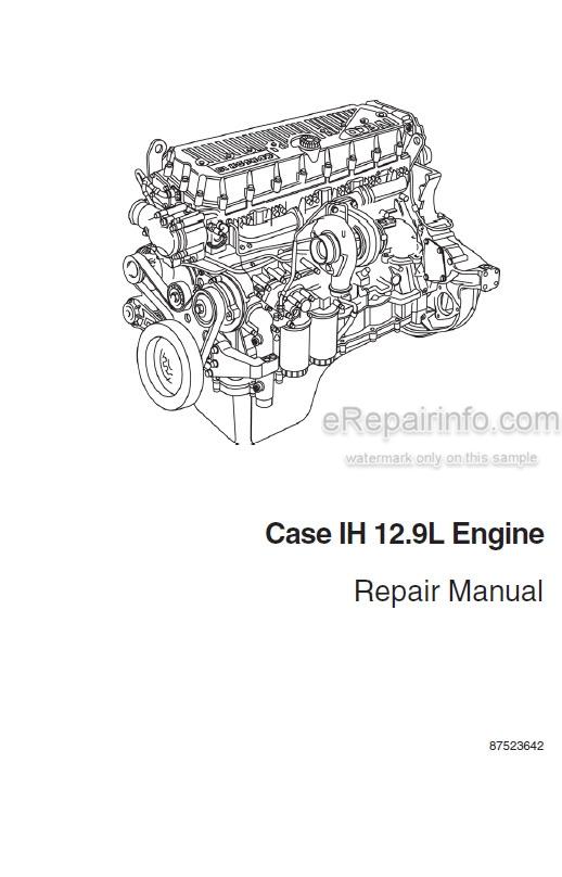 Case IH F3BE0684H F3BE0684G Repair Manual 12.9L Engine