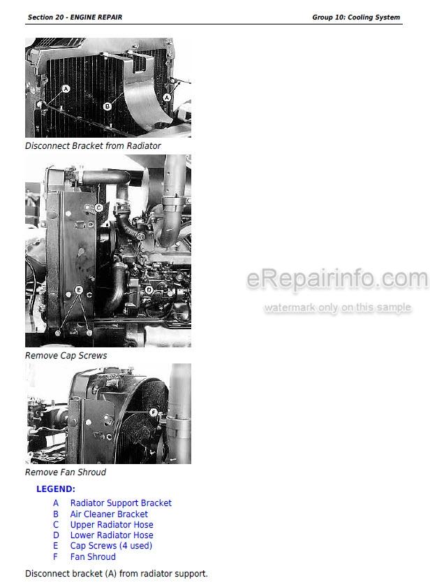 John Deere 5200 5300 5400 5500 Technical Manual Tractor