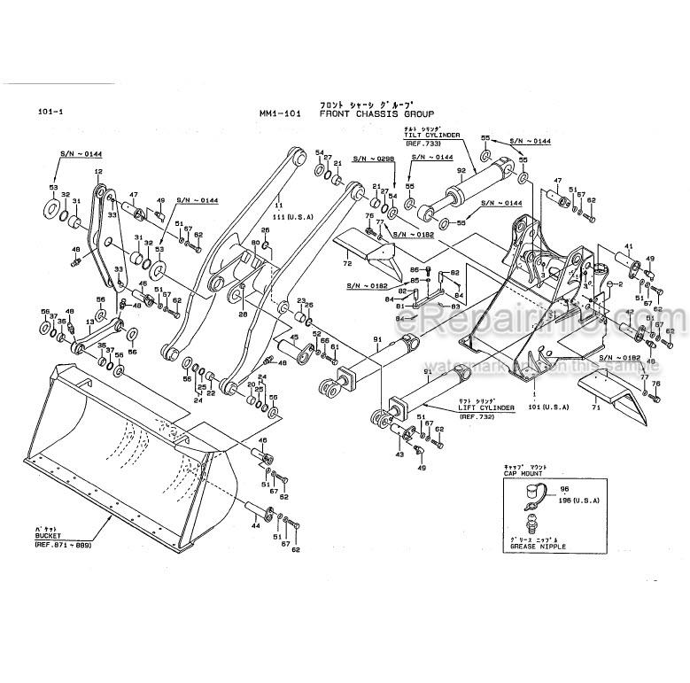 Kawasaki 65ZIV Parts Catalog Wheel Loader AAAP16315-2
