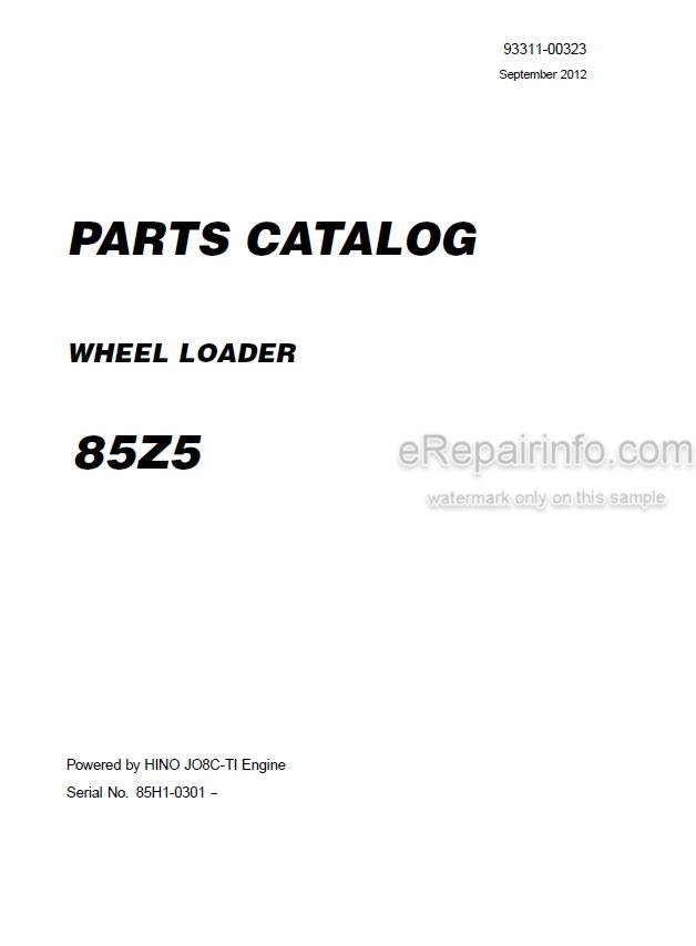 Kawasaki 85Z5 Parts Catalog Wheel Loader 93311-00323