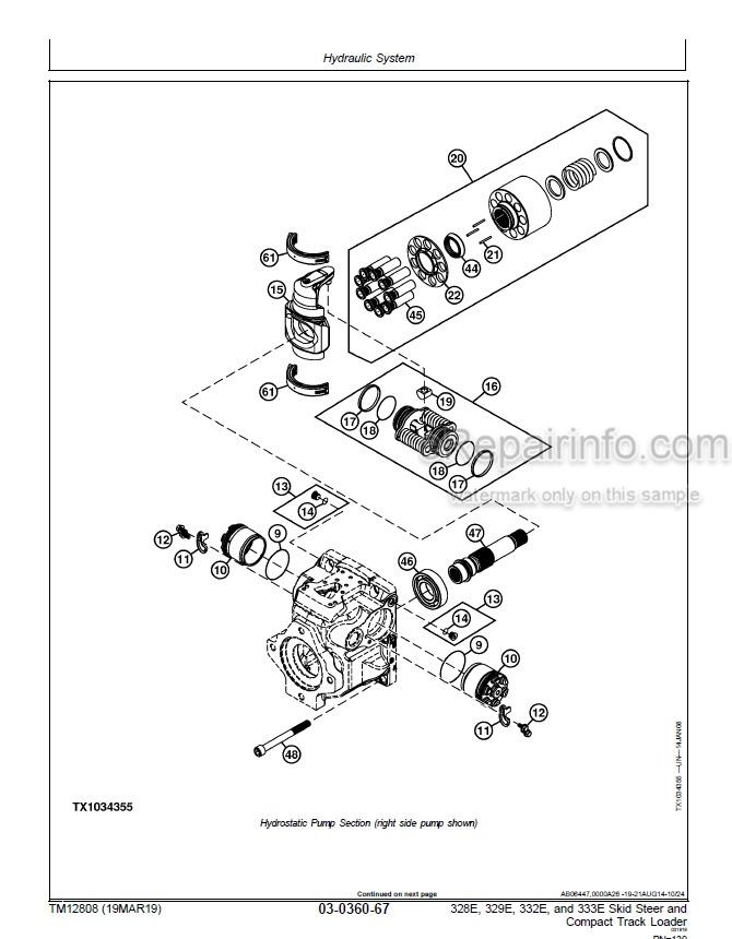 John Deere 328E 329E 332E 333E Repair Technical Manual