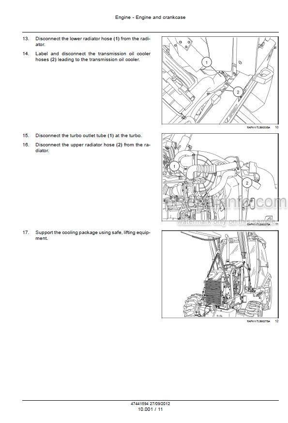 Case 570NXT Tier 4 Service Manual Tractor Loader 47441594
