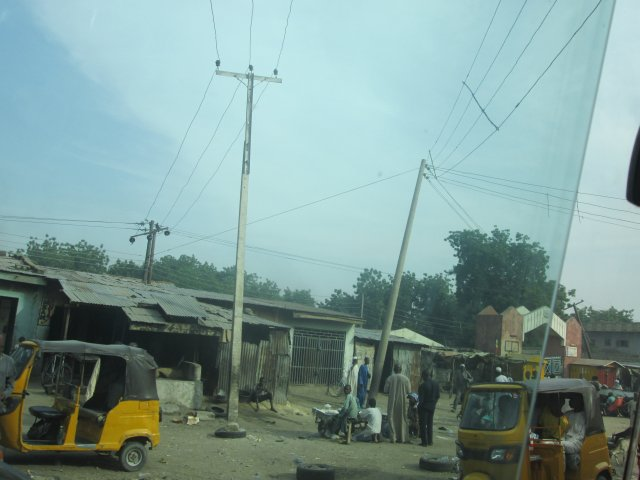 Before they were displaced, insurgents often climbed these electric poles to fire shots at their victims