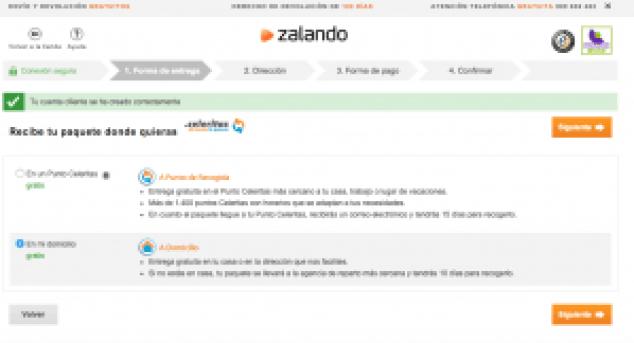 Forma de entrega - Zalando