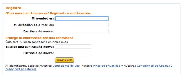 Registro - Amazon