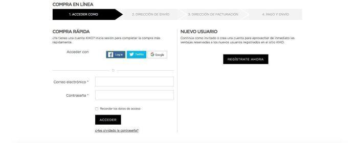 Acceder como - Kiko Milano