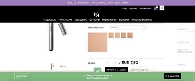 Producto - Kiko Milano