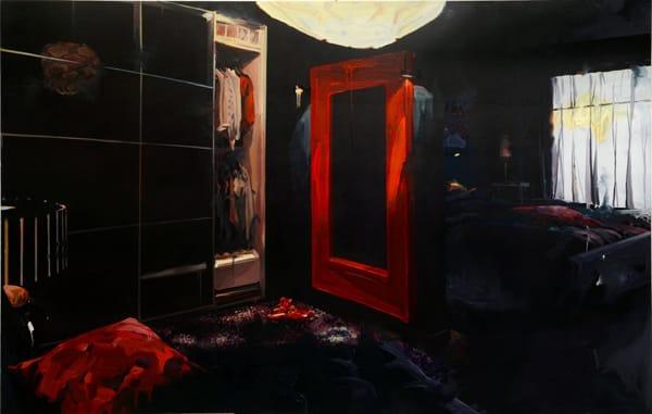 """רן ברלב - ללא כותרת, שמן ואקריליק על בד, 240/151 ס""""מ, 2012"""