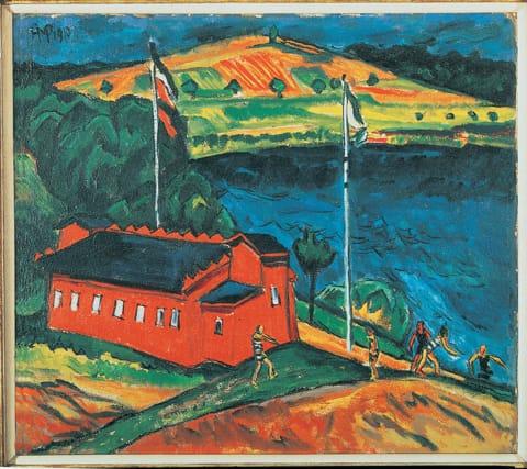 מקס פכשטיין - בית המרחץ האדום, 1910