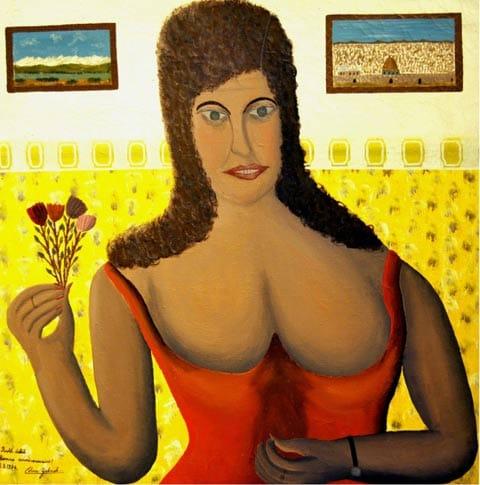 """גבריאל כהן, """"דיוקן רות דבל"""", 1974. צילום: אוסף רות דבל, ירושלים"""