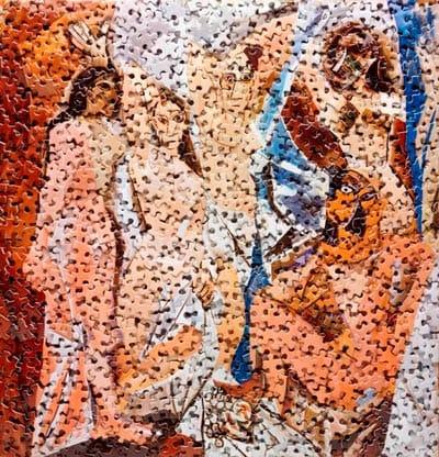 ויק מוניס - העלמות מאביניון, בעקבות פיקאסו