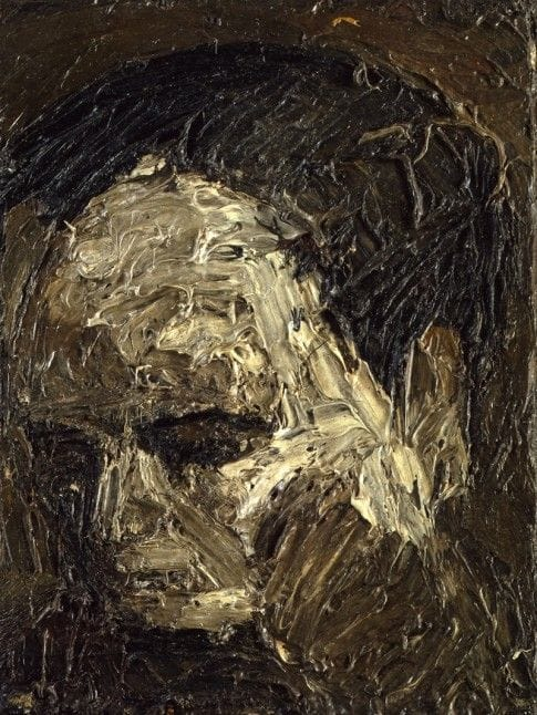 Frank Auerbach Head of Leon Kossoff, 1954, oil on board, 41.3 x 31.7