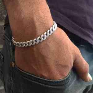 צמיד אייס - צמיד כסף לגבר - ארז תכשיטים