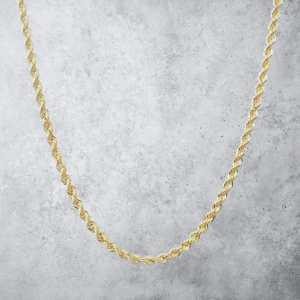 שרשרת זהב לגבר - חבל חיתוך יהלום זהב - עבה