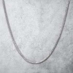 שרשרת זהב לגבר - ספיגה זהב לבן