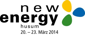 Logo der Messe New Energy 2014 auf Husum