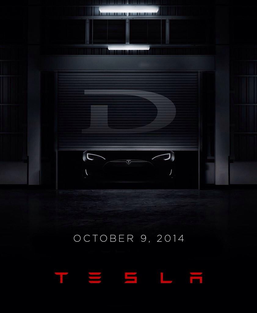 Ankündigung von Tesla Motors D via Elan Musk (Quelle: Tesla Motors)