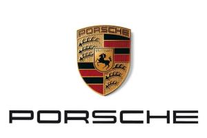 Bild des Porsche Wappens und Schriftzug (Quelle: Wikipedia)