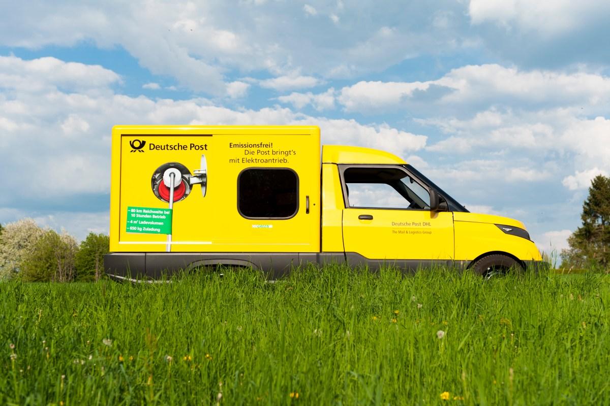Bild des DHL go Green Streetscooter Elektroauto (Quelle: DHL)