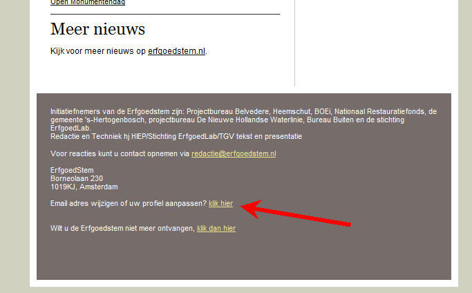 voorbeeldbrief wijziging e mailadres Emailadres wijzigen   De Erfgoedstem voorbeeldbrief wijziging e mailadres