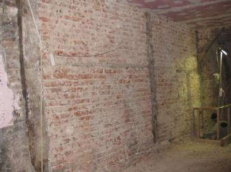 Oudegracht 179, foto van het aangetroffen vakwerk
