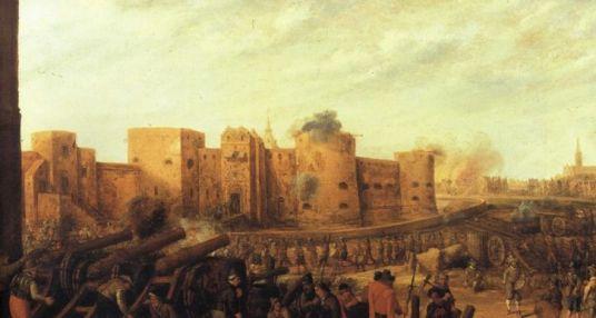 Belegering van het kasteel Vredenburg in de 16e eeuw Foto: onbekend via Projectbureau CU2030
