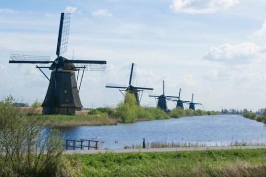 Molens op de Zuid-Hollandse Kinderdijk op de Zuid-Hollandse Kinderdijk