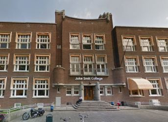 Joke Smit College, Amsterdam-Zuid. Foto: Via Google Maps.