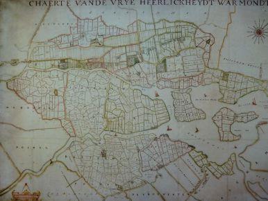 350 jaar oude kaart van Warmond