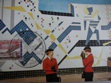 Paviljoen Gilliot op Expo58 met hostessen
