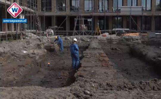 Opgravingen van 17e-eeuwse Vinex-wijk in Leiden