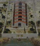 Een reconstructie van het watermolencomplex in het Musée de l'Arles antique