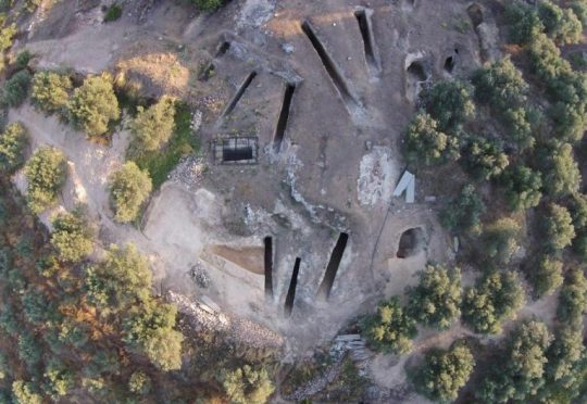 De vindplaats bij Nemea op de Peloponnesos