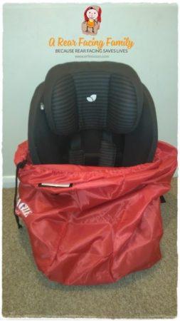 Average Group 0+/1 size car seat.