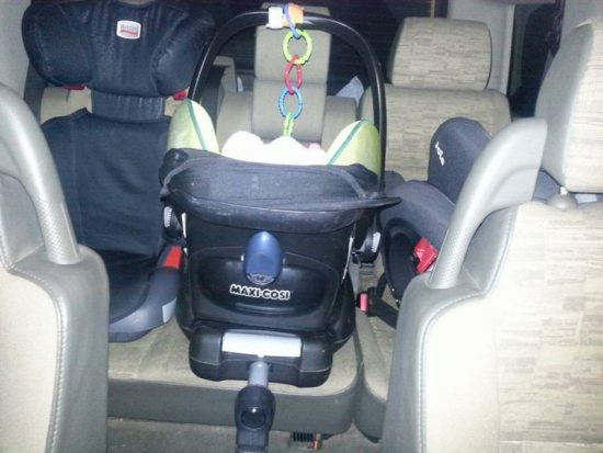 car seats 3 across in the backseat part 2 a rear facing family
