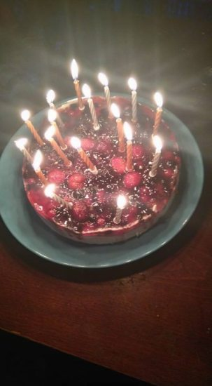 They ran out of candles. Lol good thing I'm only getting younger right? :D