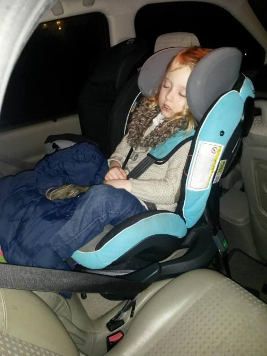 Sleeping in BeSafe izi Plus