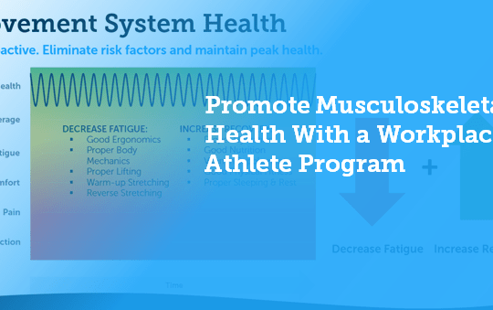 How to Promote Musculoskeletal Health With a Workplace Athlete Program