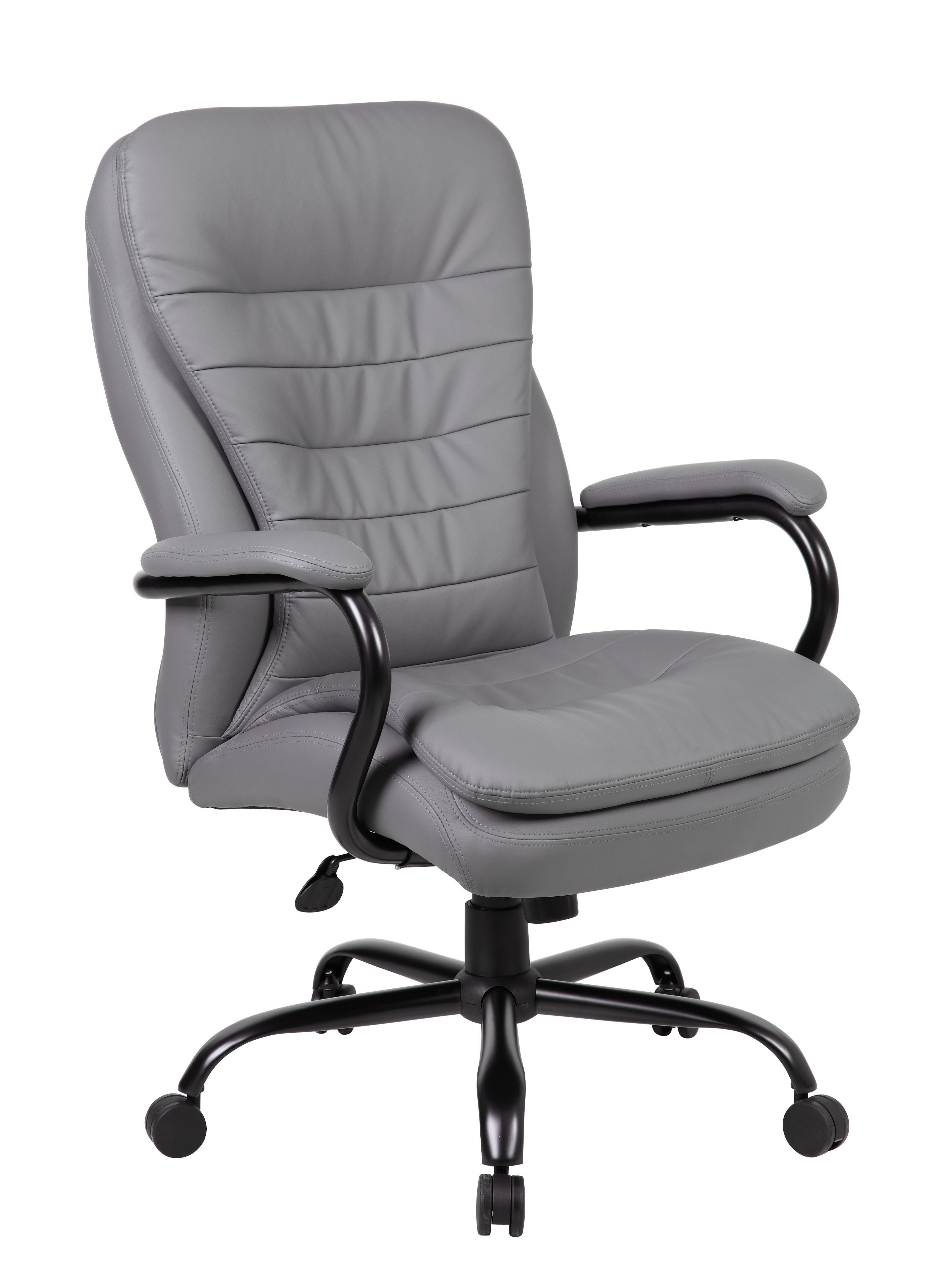 Plush Office Chair Boss Heavy Duty Double Plush Caressoftplus Chair B991