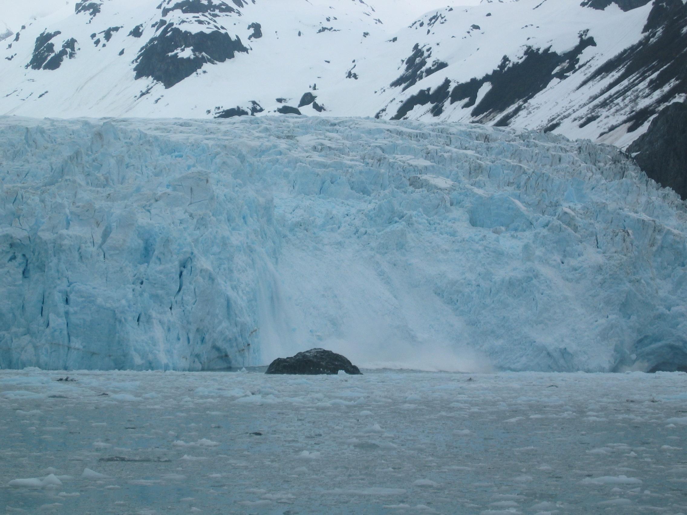 Ice calving off of Aialik Glacier