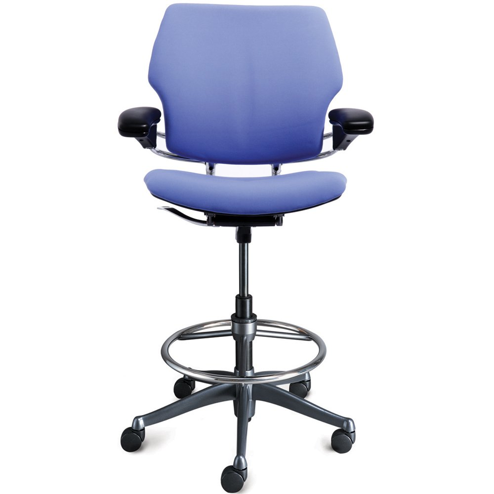 Office Chair Posture Humanscale Freedom Ergonomic Drafting Leather High Office Chair