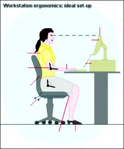 work ergonomics proper workstation