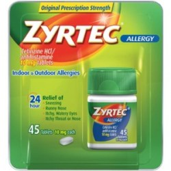 gift ideas for people with allergies - zyrtec allergy relief tablets