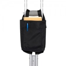 hip surgery recovery gift - Black Vinyl Crutch Bag