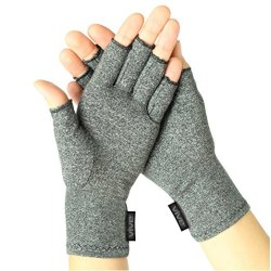 Arthritis Gloves by Vive - Compression Gloves for Rheumatoid & Osteoarthritis - Hand Gloves Provide Arthritic Joint Pain Symptom Relief compression gloves