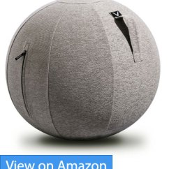 Fitball Balance Ball Chair Brown Bean Bag 5 Best Chairs For Better Posture And Core Ergonomic Vivora Luno Yoga