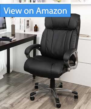 office chair review best lift chairs executive 2018 luxurious leather plus comfort songmics big thick