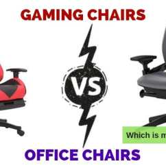Ergonomic Chair Criteria Folding Kitchen Gaming Chairs Vs Office Which Style Is More