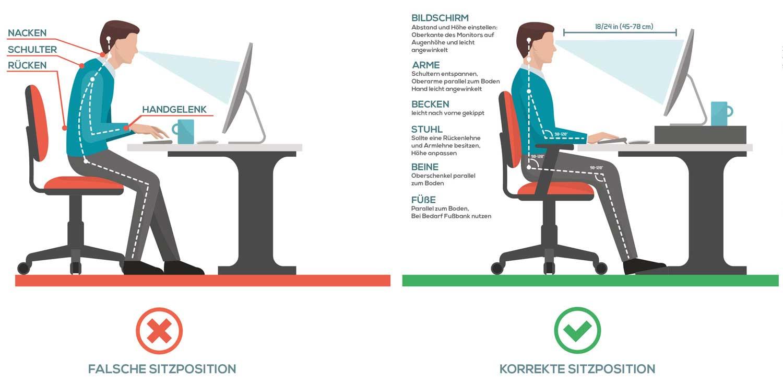 tisch ergonomisch h he ergonomie am arbeitsplatz tipps. Black Bedroom Furniture Sets. Home Design Ideas