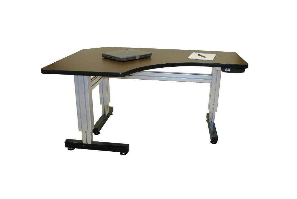 L Shaped Corner Electric Adjustable Height Desk Ergosource